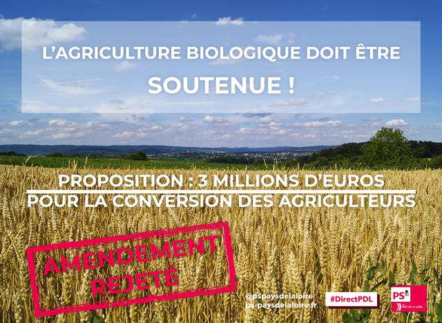 Agriculture biologique : la majorité refuse de voter un amendement proposant d'ajouter 3 millions d'euros au budget 2018